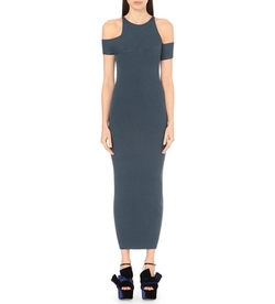Self-Portrait - Wrap-Effect Knitted Dress