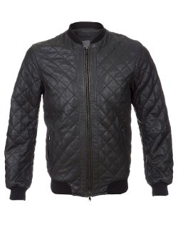 Lot 78 - Quilted Nappa Leather Bomber Jacket