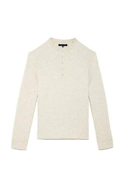 Vince Camuto - Fleece Button Henley