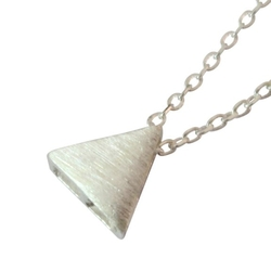 Emily Lin - Silver Plated Alloy Triangle Necklace