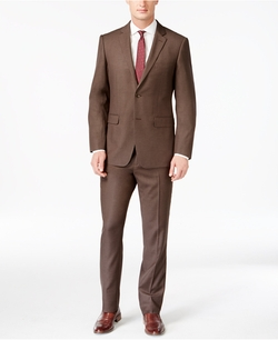 Perry Ellis - Slim-Fit Sharkskin Suit