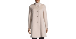 Fleurette - Stand-Collar Wool Coat