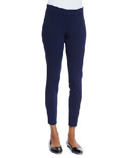 Three Dots  - Stretch-Jersey Seamed Leggings