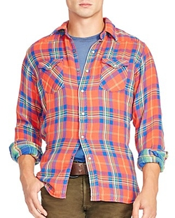 Polo Ralph Lauren  - Double-Faced Twill Western Casual Button Down Shirt