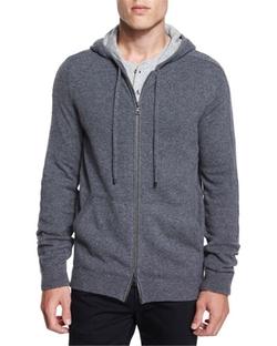 Vince - Cashmere Full-Zip Hoodie Jacket