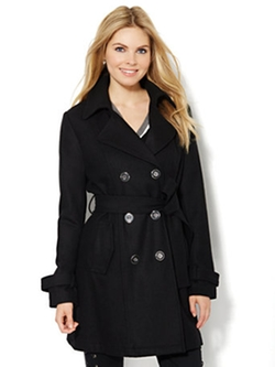 New York & Co. - Wool Blend Trench Coat