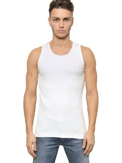 Dolce & Gabbana  - Ribbed Cotton Jersey Tank Top