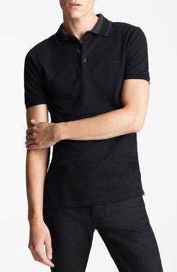 Burberry London - Check Placket Cotton Polo Shirt