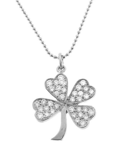 Jennifer Meyer - Diamond Four-Leaf Clover Necklace