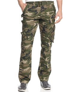 Royal Premium Denim - Slim Straight Camo Cargo Pants