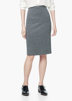 Mango - Herringbone Pencil Skirt