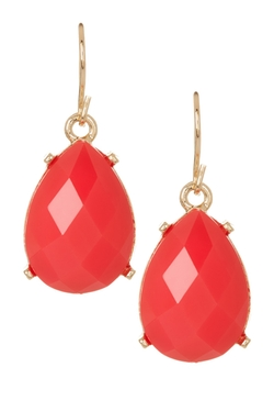 Natasha Accessories  - Faceted Teardrop Earrings
