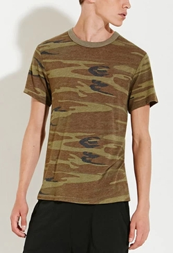 Alternative Apparel - Eco-Jersey Camo Tee Shirt