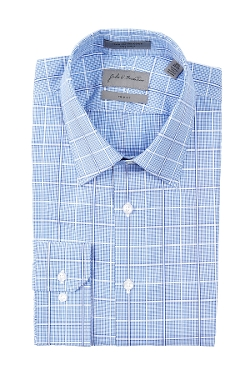 John W. Nordstrom  - Trim Fit Straight Check Plaid Dress Shirt
