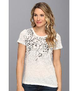 TWO by Vince Camuto  - Sunbleached Leopard Jersey Tee