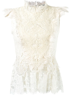Martha Medeiros   - Ruffled Lace Blouse