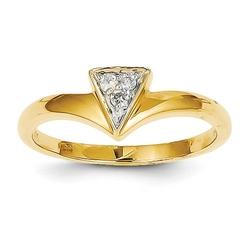 Jewelry Pot - Yellow Gold Diamond Triangle Ring