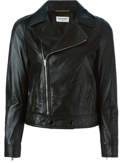Saint Laurent   - Cropped Biker Jacket