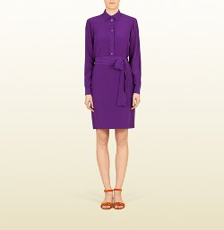 Gucci - Silk Crepe De Chine Shirt Dress