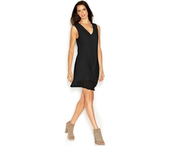 Rachel Rachel Roy  - Andi Dress Sleeveless V-Neck Solid Shift Dress