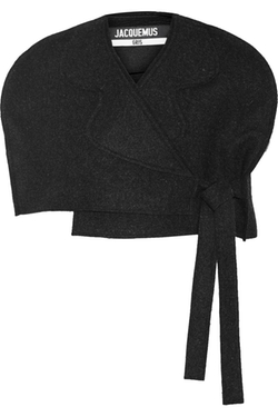 Jacquemus - Cropped Wool-Felt Cape