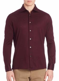 Luciano Barbera  - Cotton Pique Shirt