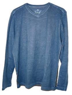 Tommy Bahama  - Denim Slub-Stancial V-Neck Long-Sleeve T-Shirt