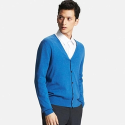 Uniqlo - Men Cotton Cashmere V-Neck Cardigan