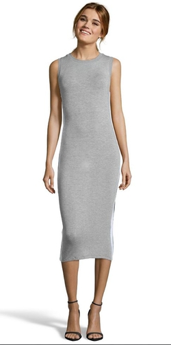 Wyatt - Jersey Knit Side Panel Midi Dress