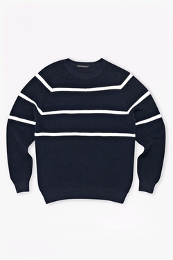 French Connection - Engineered Striped Ottoman Jumper