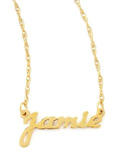 Moon and Lola	  - Personalized Gold Name Pendant Necklace