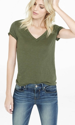 Express  - One Eleven Deep V-Neck T-Shirt