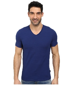 Calvin Klein  - Short Sleeve V-Neck Slub T-Shirt