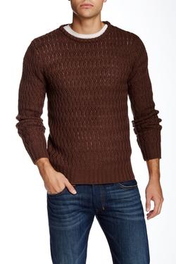 Yoki  - Crew Neck Pattern Pullover Sweater