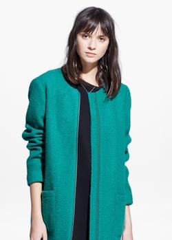 Mango - Bouclé Wool-Blend Coat