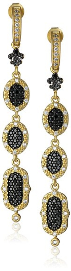 Freida Rothman - Long Triple-Stone Drop Earrings