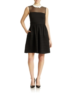 Betsey Johnson - Collared Fit & Flare Dress