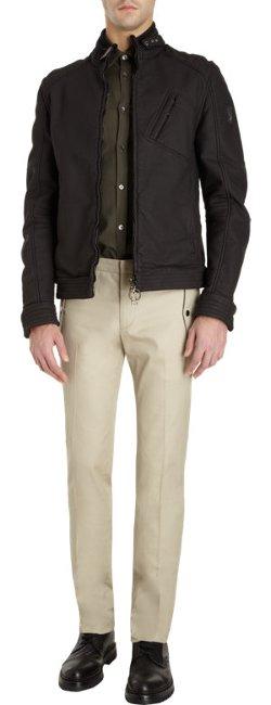 Belstaff - Zip Front Belted Collar Blouson Jacket