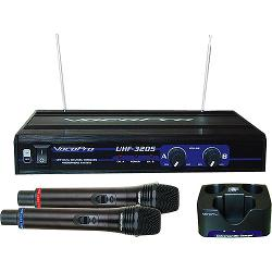 VocoPro  - Dual Channel UHF Professional Rechargeable Wireless Microphone System