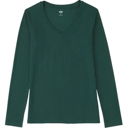 Uniqlo - V-neck Long Sleeve T-Shirt