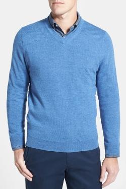Nordstrom  - Merino Wool V-Neck Sweater