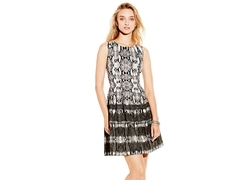 Vince Camuto - Seamed Dress With Pleats