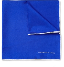 Turnbull & Asser - Contrast-Edge Silk Pocket Square