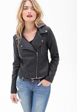 Forever 21 - Hooded Moto Jacket
