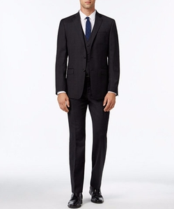 Calvin Klein - Extra Slim-Fit Plaid Suit