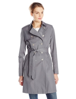 T Tahari  - Heather Double-Breasted Trench Coat