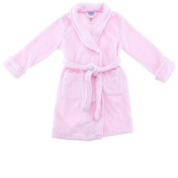 Robes Unlimited - Pink Plush Bath Robe for Toddlers and Girls