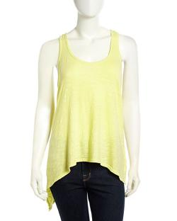 W by Wilt  - Slub-Knit Asymmetric Crossover Tank Top