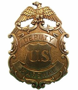 Movie Replicas Direct - Deputy US Brass Marshal Eagle Badge