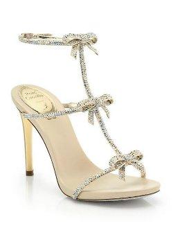 Rene Caovilla  - Strass Swarovski Crystal Bow Sandals